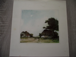 Painting - Lithography - Old Mill - Germany - Mulle Zandung - Signed - Indecipherable - 320/320 Mm - Lithographies