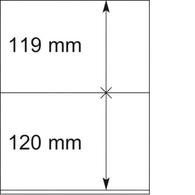 Lindner Blankoblätter 802204 (10 Blätter Neuwertig (VD315 - Albums & Reliures