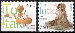 Kroatien MiNr. 1181/82 ** Europa: Historisches Spielzeug - Kroatien