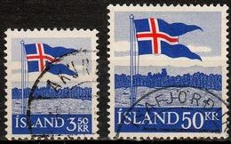 Island MiNr. 327/28 O 40 Jahre Landesflagge - Usati