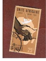 GUINEA -  SG 403  -  1963 AFRICAN NATIONS CONFERENCE   - USED ° - Guinea (1958-...)