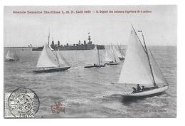 Cpa...Nantes...grande Semaine Maritime L.M.F. (aout 1908)..départ Des Bateaux Régatiers De 6 Mètres..1908..animée. - Voiliers