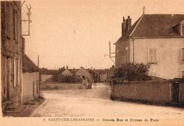 SAINT CYR LES COLONS  ( 89 ) - Grande Rue Et Bureau De Poste - Autres Communes