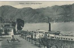 SWITZERLAND-SCHWEIZ-SUISSE-SVIZZERA-OSTENO-LUGANO-PIAZZA E ALBERGO DEL VAPORE-CARTOLINA NON VIAGGIATA ANNO 1910-1920 - TI Tessin