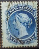 NOVA SCOTIA 1860 - Canceled - YT 7, Sc 7 - 5c - Nova Scotia