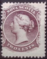 NOVA SCOTIA 1860 - MLH - 2c - Unused Stamps