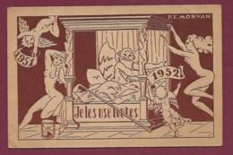 130819 - ILLUSTRATEUR PF MORVAN - Je Les Use Toutes 1951 1952 - érotisme Nu Sablier Angelot Lit - Morvan