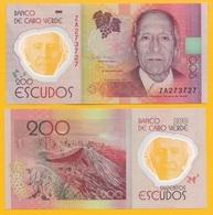 Cape Verde 200 Escudos P-71r 2014 REPLACEMENT UNC Polymer Banknote - Kaapverdische Eilanden