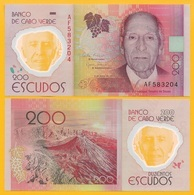 Cape Verde 200 Escudos P-71 2014 UNC Polymer Banknote - Cabo Verde