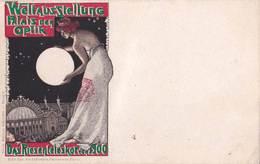 CPA  Illustrateur Superbe état :: Expo Universelle 1900 Weltausstellung Palais Der Optik Das Reisenteleskop   Lunez - Illustrateurs & Photographes