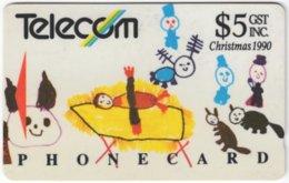 NEW ZEALAND A-767 Magnetic Telecom - Occasion, Christmas, Child Drawing - Used - Nuova Zelanda