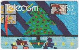 NEW ZEALAND A-768 Magnetic Telecom - Occasion, Christmas, Child Drawing - Used - Nuova Zelanda