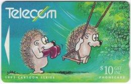 NEW ZEALAND A-788 Magnetic Telecom - Cartoon, Animal, Hedgehog - 121CO - Used - Nuova Zelanda