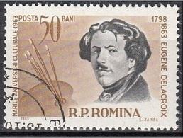 1563 Romania 1963 Ritratti Di Celebrità : Eugene Delacroix Pittore - Arte