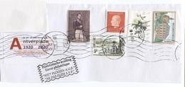 Hoofding Van Enveloppe Met Diverse Zegels - Head Of Letter With Different Stamps.  Check Scan Zie Scan - Unclassified
