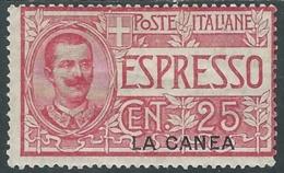 1906 LEVANTE LA CANEA ESPRESSO 25 CENT MH * - RA27-4 - La Canea