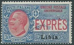 1915 LIBIA ESPRESSO 30 CENT MNH ** - RA29-2 - Libyen