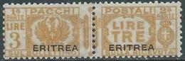 1927-37 ERITREA PACCHI POSTALI 3 LIRE MNH ** - RA28-9 - Eritrea