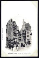 CPA PRECURSEUR FRANCE- PARIS (75)-  VIEUX PARIS EN 1900- RUE DES VIEILLES ECOLES- BELLE ANIMATION - Francia
