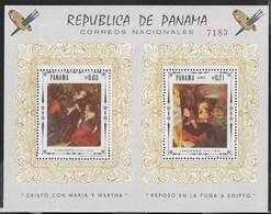 PANAMA - 1968 - TINTORETTO - CARAVAGGIO - FOGLIETTO NUOVO ** ( MICHEL BL 81) - Arte