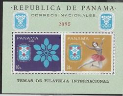 PANAMA - 1968 - GIOCHI OLIMPICI INVERNALI - GRENOBLE '68  - FOGLIETTO NUOVO ** ( MICHEL BL 87) - Inverno1968: Grenoble
