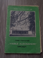 Romania - Iasi - Mircesti Memorial House Museum - Vasile Alecsandri - Tourism Book Brochure Illustrations 31 Pages - Toerisme