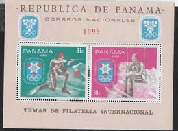 PANAMA - 1968 - GIOCHI OLIMPICI INVERNALI - GRENOBLE '68  - FOGLIETTO NUOVO ** ( MICHEL BL 88) - Inverno1968: Grenoble