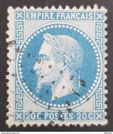 1863-1870, Emperor Napoléon Lll, 20c, Bleu, Empire Français, France - 1863-1870 Napoleon III With Laurels
