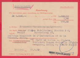 247499 / Document 1960 - Abrechnung , DEUTSCHE NOTEBANK Dresden , Germany Allemagne Deutschland - Allemagne