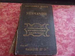 LES GUIDES BLEUS NORMANDIE 1919 CARTES PLANS GUIDE PUBLICITES JERSEY... - Normandie