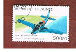 GUINEA -  SG 1646  -  1995 AIRCRAFTS: VALMET L-90 REDIGO     - USED ° - Guinea (1958-...)