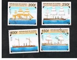 GUINEA -  SG 1740.1744  -  1997  WAR SHIPS     - USED ° - Guinea (1958-...)