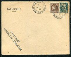 """Frankreich / 1947 / Brief """"PARLAMENT-CONGRES DE VERSAILLES"""" (23349) - France"""