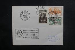 A.O.F. - Cachet Aviation Commémoratif De Mermoz Sur Enveloppe De Daker En 1955 Pour Paris - L 39011 - Lettres & Documents