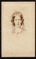 Photo Ancien / Carte De Visite / CDV / Woman / Femme / Photographer / Ed. Vandewattyne / Bruges / Brugge / 2 Scans - Fotos