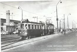 Leiden Blauwe Tram Tramway Strassenbahn Trolley Station Gare Bahnhof NZH 1960's - Leiden