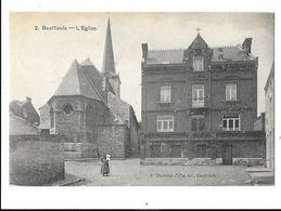 Bouffioulx  ( M 2777 )  Femme Avec Enfant Sur Le Bras Devant L'Eglise - Châtelet
