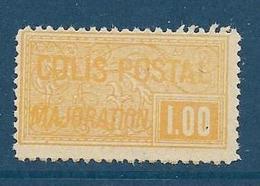 Timbre Neuf* France, N°22 Yt, Colis Postaux, Majoration, ,1918, 1.00, Charnière, - Neufs