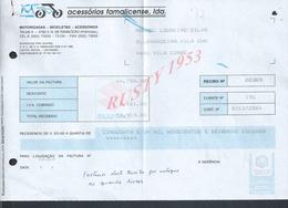 PORTUGAL FACTURE MOTO ACCESSORIOS FAMALICENSE FAMALICAO MOTORIZADAS BICICLETAS : - Portugal