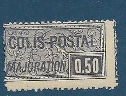 Timbre Neuf* France, N°21 Yt, Colis Postaux, Majoration, ,1918, 0.50, Charnière, - Neufs