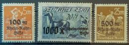 DEUTSCHES REICH - MNH - Mi 258-260 - Rhein-Ruhr-Hilfe - Germania