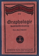 Petit Livret Allemand 1914 Graphologie Handschriftbedeutung - Libros Antiguos Y De Colección