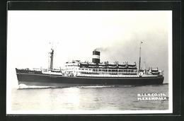AK Passagierschiff M.S. Kampala, British India S. N. Co. Ltd. - Dampfer