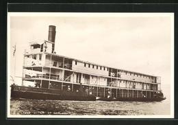 AK S.G. Steamer Britain At Wadi Halfa, Nildampfer - Barcos