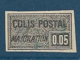 Timbre Oblitéré France, N°17 Yt, Colis Postaux, Majoration, ,1918, 0.05, Charnière, Non Dentelé - Colis Postaux