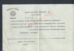 PORTUGAL LETTRE COMMERCIALE CONSULAT SUISSE PORTO BANQUE MINHO BRAGA : - Portugal