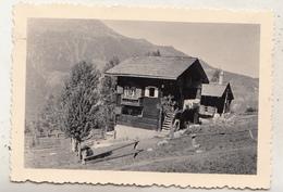 """Châlet """"Belle-Vue"""" St Luc - 1947 - Photo 6.5 X 9 Cm - Orte"""