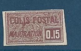 Timbre Neuf* France, N°18 Yt, Colis Postaux, Majoration, ,1918, 0.15, Charnière, Non Dentelé Ou Coupé ? Voir Scan - Colis Postaux