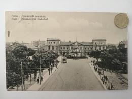 Riga, Dünaburger Bahnhof, Deutsche Feldpost, 1918 - Lettonie