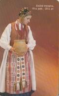 LITUANIA. CHIP. TRAJES REGIONALES. A Girl From Suvaikija. LT-LTV-C052. (064). - Lituania